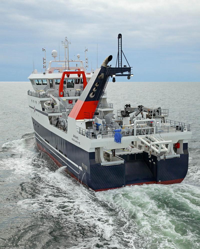 The Araho. Eastern Shipbuilding photo.