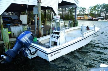 This 29' x 11.5' Privateer is being used in the Virginia gillnet fishery. Larry Chowning photo.