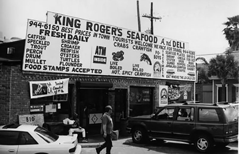 Trout and redfish po-boy sandwiches were a staple in New Orleans restaurants and retail markets like this one, photographed in the early 1990s, until the Gulf Coast Conservation Association rallied sportsmen to monopolize the species. Robert Fritchey photo.