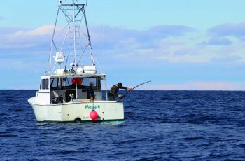 Read Corky Decker's feature on fishing Georges Bank bluefin from a small boat in the July issue of National Fisherman. Photo courtesy Corky Decker.