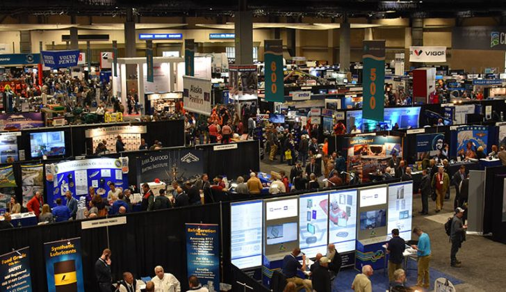 A busy show floor at Pacific Marine Expo 2016. Doug Stewart photo.