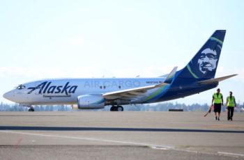 Alaska Air Cargo converted 737-700 freighter