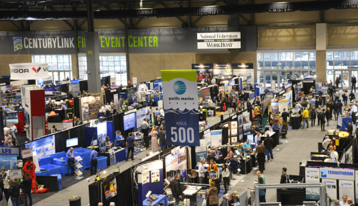 Pacific Marine Expo show floor in Seattle. November 2017.