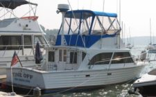 31′ Custom Fishing Boat with Fly Bridge – Restoration or Parts