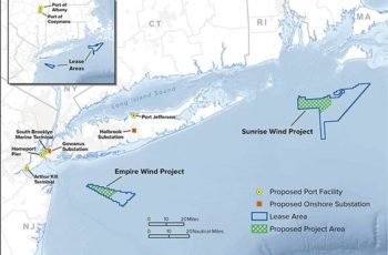 New York State awarded contracts to Equinor and Ørsted to provide 1.7 gigawatts of offshore wind energy by 2024. NYSERDA image