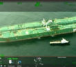 The collision left a 30-foot gash in the side of the tanker. Coast Guard image