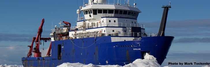 The University of Alaska Fairbanks College of Fisheries and Ocean Sciences operates the research icebreaker Sikuliaq. UAF photo/Mark Teckenbrock