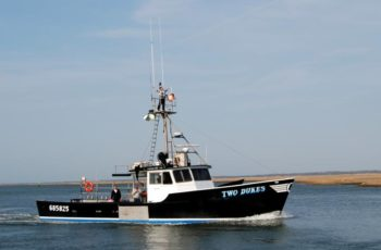 The offshore lobster boat Two Dukes. The EPA proposes to delay implementation of Tier 4 emission standards for new offshore lobster boats. Atlantic Offshore Lobstermen's Association photo.