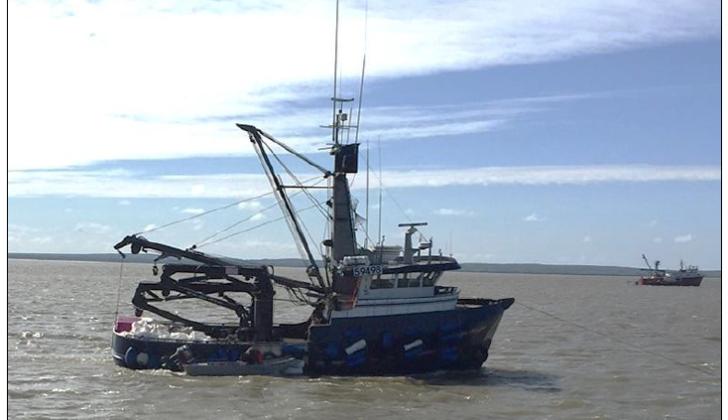 The fish tender Pacific Knight sank July 25, 2018 in Nushagak Bay. NTSB photo.