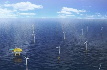 The German utility EnBW is looking to bid on the next round of wind energy leases in the New York Bight. the company is currently building the 610 MW Hohe See and Albatros project in the North Sea. EnBW rendering.