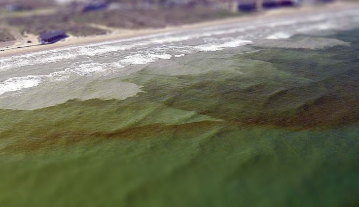 A red tide algae bloom on the Texas coast. NOAA photo.