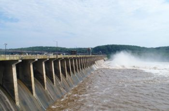 The Conowingo hydroelectric dam controls the Susquehanna River discharge into upper Chesapeake Bay. Exelon photo.