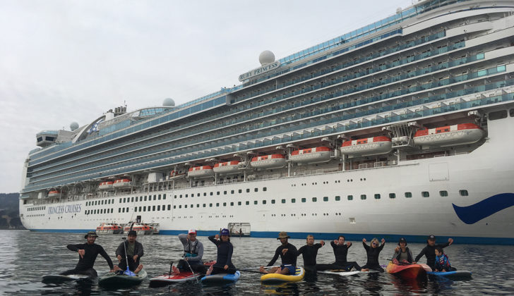 Residents protest cruise ships in California marine sanctuary