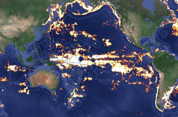 Global Fishing Watch tracks fishing operations worldwide using AIS technology. Global Fishing Watch image.