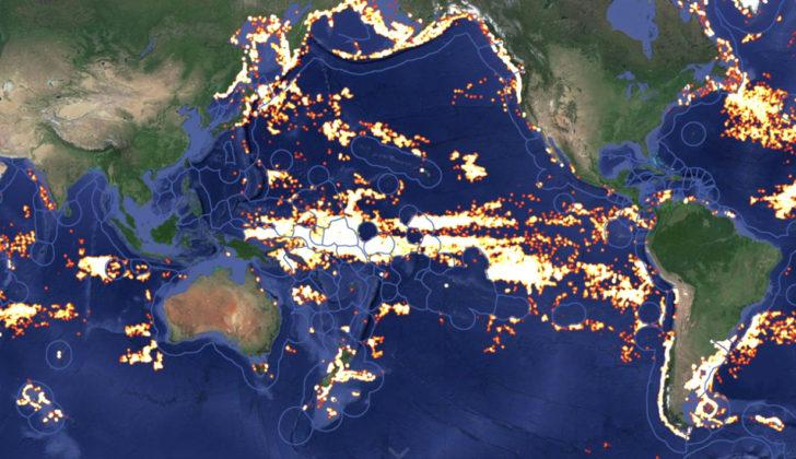 Global Fishing Watch tracks fishing operations worldwide using AIS technology. Global Fishing Watch image.