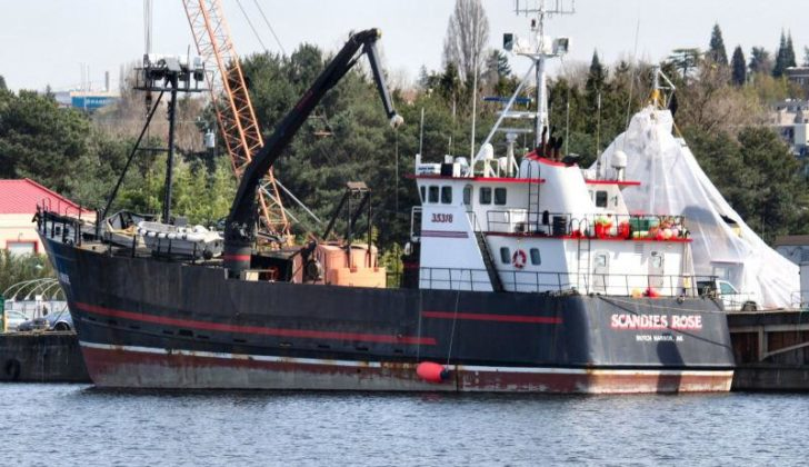 The Scandies Rose, a 130-foot crabbing vessel from Dutch Harbor, was carrying a crew of seven when it sank Dec. 31, 2019. ShipSpotting.com photo.
