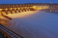 The Ice Harbor Dam on the lower Snake River. Corps of Engineers photo.