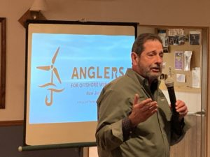 Rhode Island charter captain spoke at a Feb. 6 meeting hosted by Anglers for Offshore Wind Power. Kirk Moore photo.