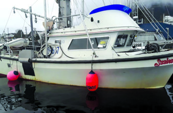No more idling his diesel all day, Fabian Grutter turned his 34-foot gillnetter/longliner, Sunbeam, into Sika, Alaska's first hybrid-electric powered fishing vessel. Fabian Grutter photo.